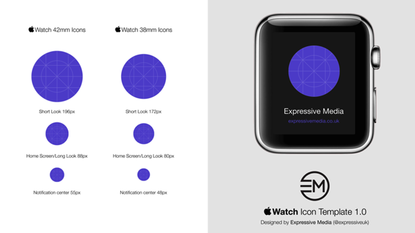 Apple Watch Icon Template screenshot1